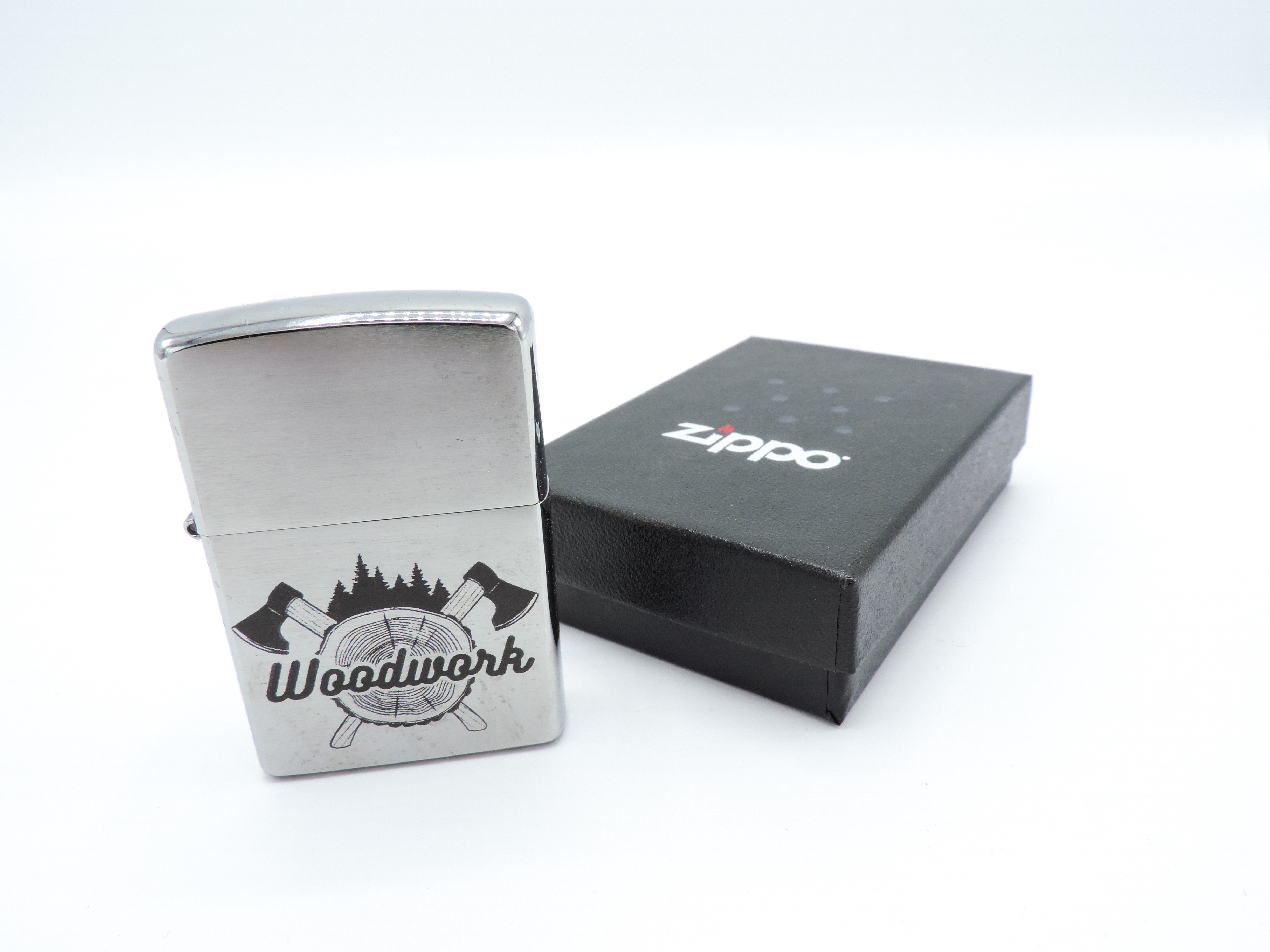 Zippo chrome brushed mit Wunschgravur